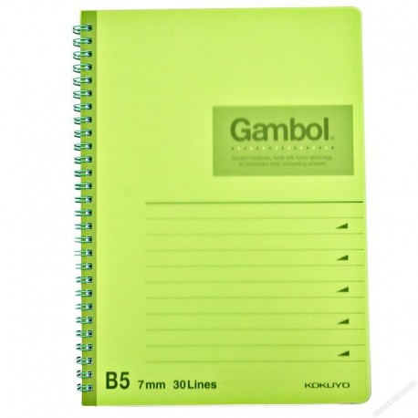 Gambol DS1798 PP Twins Wire Ring Note Book B5 80Pages