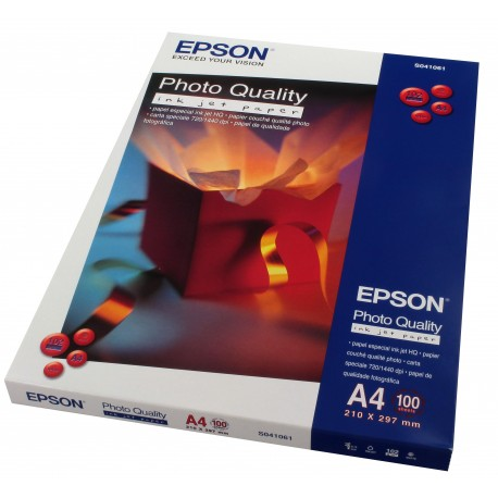 Epson C13S041061 Photo Quality Inkjet Paper A4 100Sheets