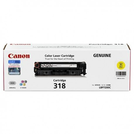 Canon 318 Toner Cartridge Yellow