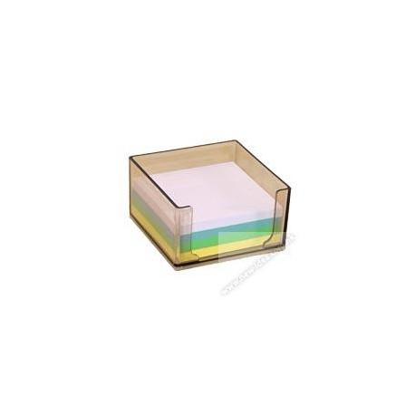"Plastic Memo Tray 3.5""x3.5"" Smoky"