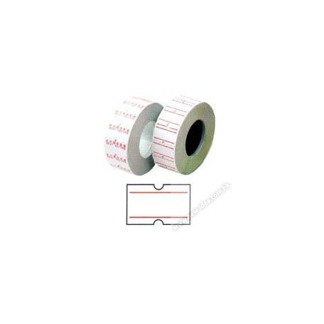 Price Labels 12mmx22mm 10Rolls 2 Red Lines on White