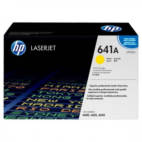 HP C9722A 641A Toner Cartridge Yellow