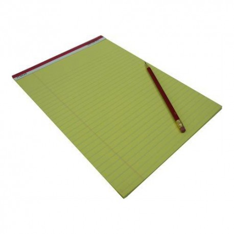 Mead 59610 Writing Pad Single Line Ruled A4 50Pages Yellow Pages
