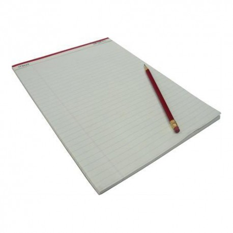 Mead 59374 Writing Pad Single Line Ruled A4 50Pages White Pages
