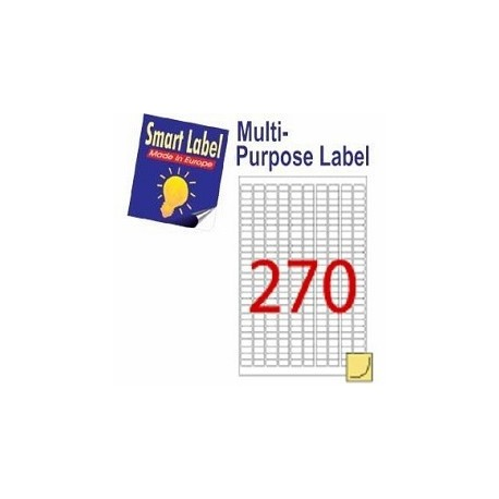 Smart Label 2615 Multipurpose Labels A4 17.8mmx10mm 27000's White