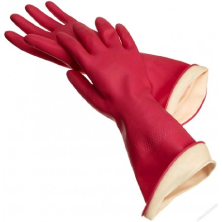 Panda Rubber Gloves Red