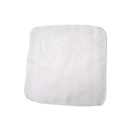 "Cotton White Towel 12""x12"" 28g"