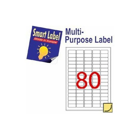 Smart Label 2618 Multipurpose Labels A4 35.6mmx16.9mm 8000's White