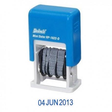 Deskmate RP-1822D4 Self-Inked Date Chop 4mm Blue