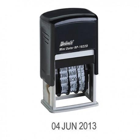 Deskmate RP-1822D4 Self-Inked Date Chop 4mm Black
