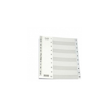 Bantex 6210 PVC Index Divider A4 1-10 Grey