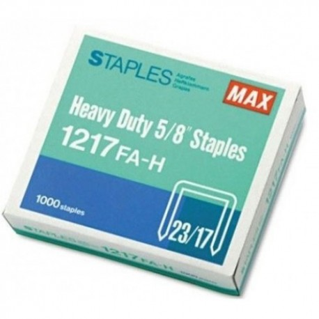Max 1217FA-H 23/17 Staples 17mm 1000's