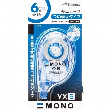 Tombow CT-YX6 Refillable Correction Tape 6mmx12M