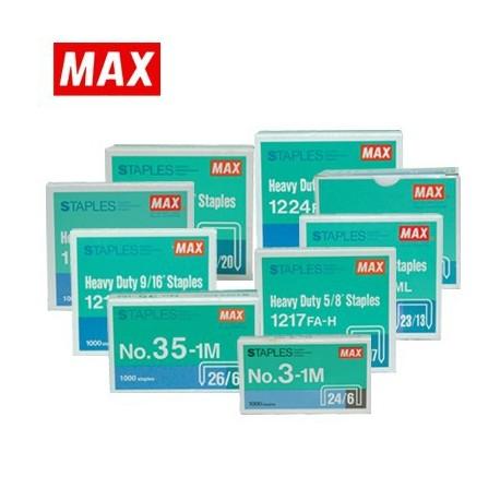 Max 美克司 1208FA-H 23/8 釘書釘 8毫米 1000枚