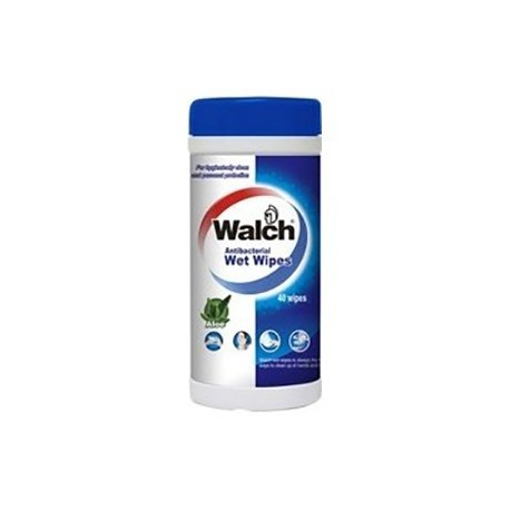 Walch Antibacterial Wet Wipes 40's