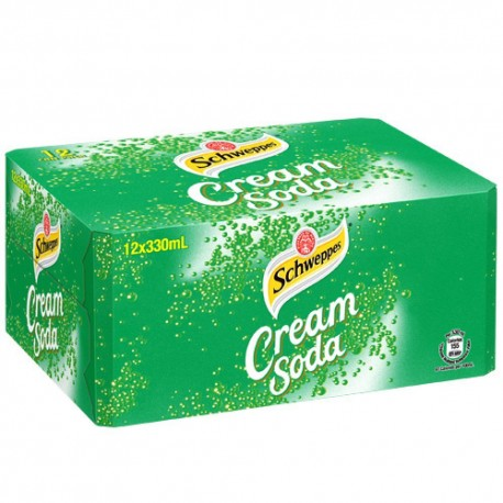 Schweppes Cream Soda Soft Drink 330ml 12Cans