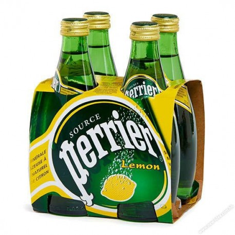 Perrier Sparkling Mineral Water Lemon 330ml 4Bottles