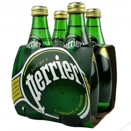 Perrier Sparkling Mineral Water Regular 330ml 4Bottles