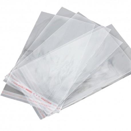 "Self Adhesive Clear Bag 5.5""x7.5""x1.5"" 100's"