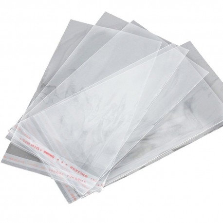 "Self Adhesive Clear Bag 4.5""x7""x1.5"" 100's"