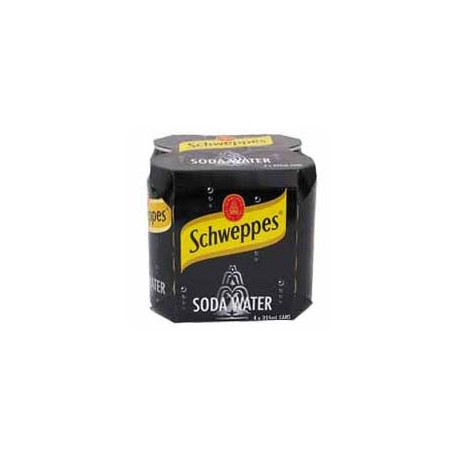 Schweppes Soda Water 330ml 4Cans