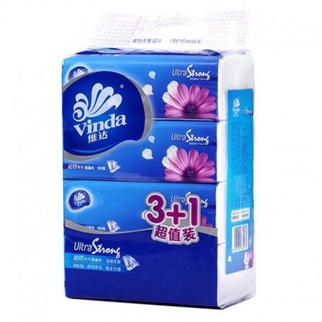 維達 三層紙巾 4包