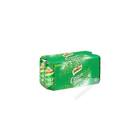 Schweppes Cream Soda Soft Drink 330ml 8Cans