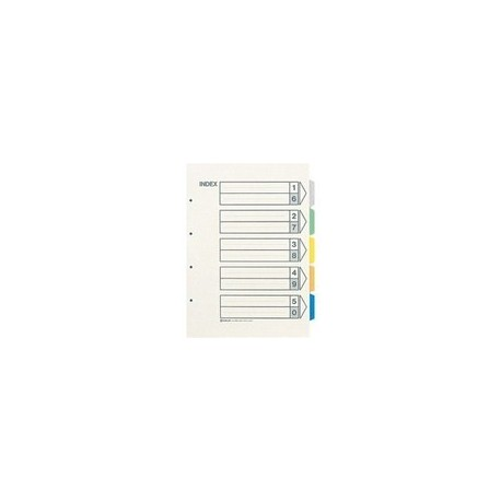 King Jim 1000S Paper Color Index A3S 5Tabs Vertical