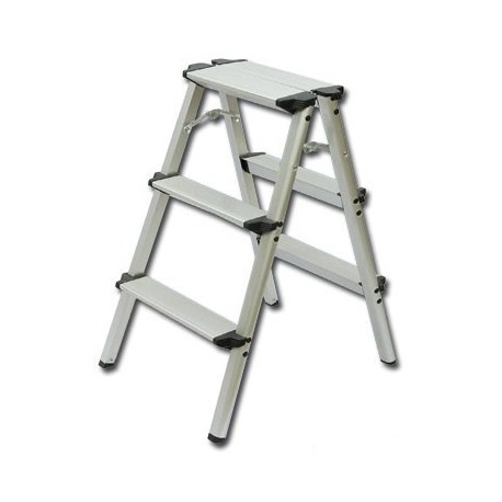 Double Side Without Handle 3-Step Ladder