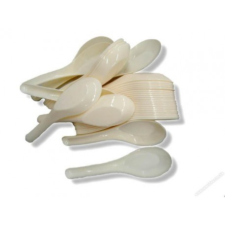 中式膠匙 24隻 白色