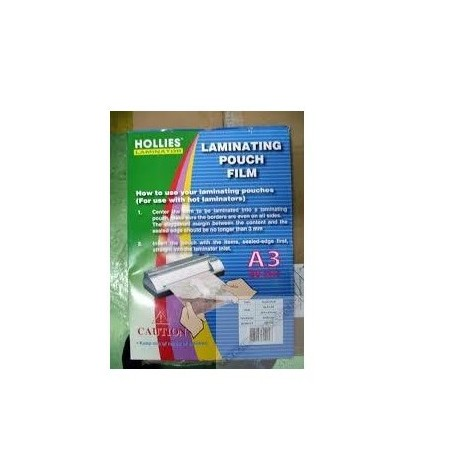 Hollies Laminating Film A3 303mmx426mm 80mic 100Sheets