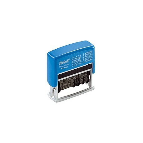 Deskmate SD-2156A Self-Inked Phrases & Dater Chop 2Colors Blue&Red