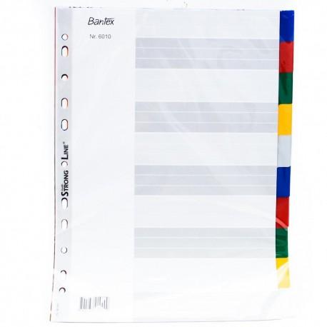 Bantex 6010 PVC Colour Index Divider A4 10 Tabs
