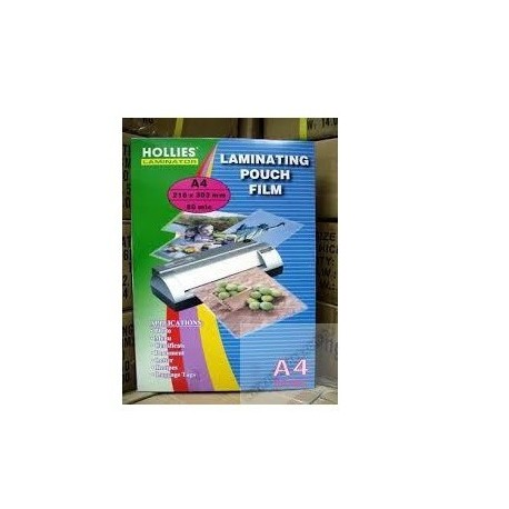 Hollies Laminating Film A4 216mmx303mm 80mic 100Sheets