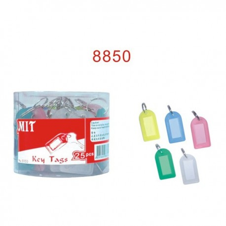 MIT 8850 Key Tab Assorted Colors 25's