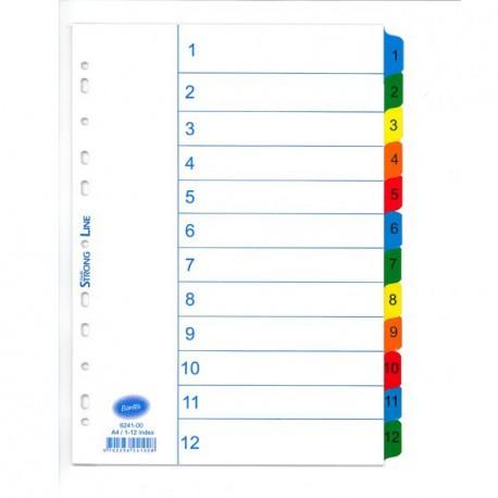 Bantex 6241 Mylar Color Index A4 1-12