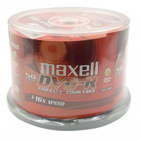 Maxell DVD-R Disk 16x 50's Cake Pack
