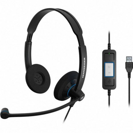 Sennheiser SC60 USB CTRL UC Headset With Call Control
