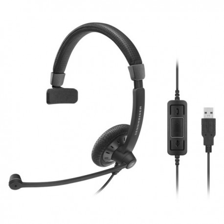 Sennheiser SC40 USB MS BLACK 單邊有線耳機