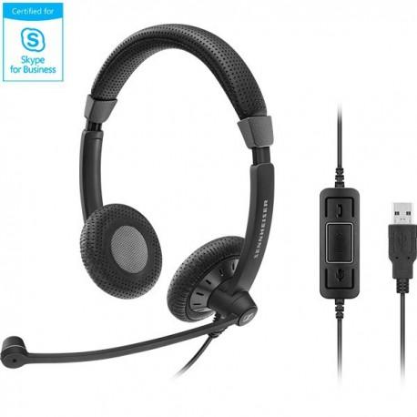 Sennheiser SC70 USB MS BLACK 雙邊有線耳機