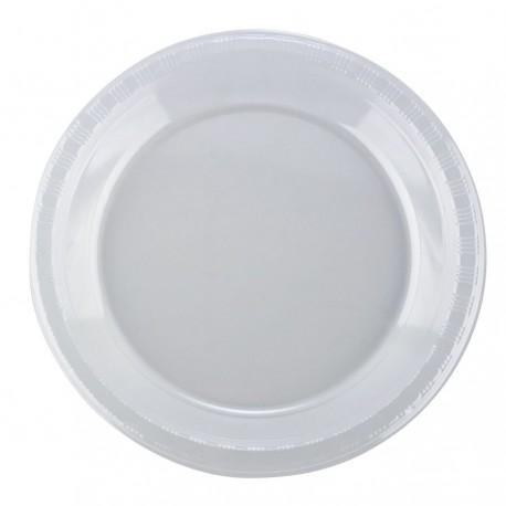 "Plastic Plate 7"" 600's White"