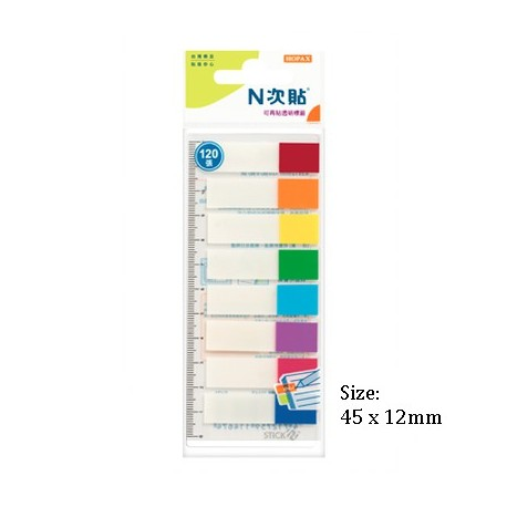Stick-N 21467 Film Index 12mmx45mm 8Colors