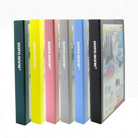 Data Bank V647 2D Ring Insert Binder A4 38mm Black,Blue,Grey,Green,Purple,Pink,Red,Yellow