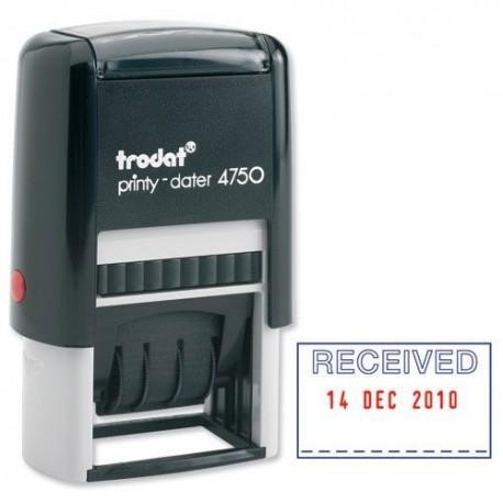 Trodat 4750/L1 Self-Inked Date Chop