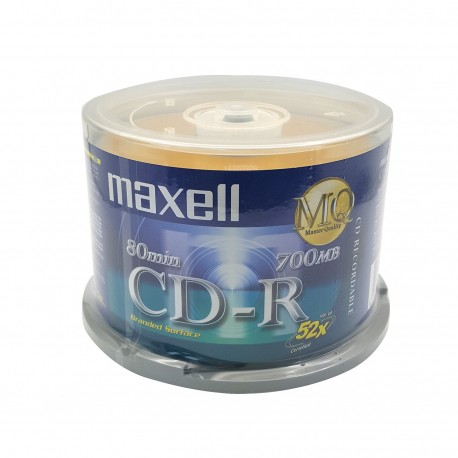 Maxell CD-R Disc 700MB 52x 50's Cake Pack