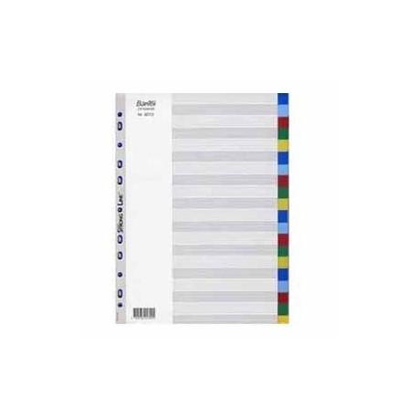 Bantex 6013 PVC Colour Index Divider A4 20 Tabs