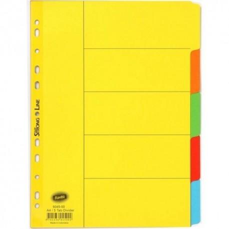 Bantex 6045-00 Paper Color Index Divider A4 5Tabs