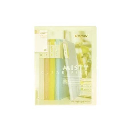 Comix A416 Clear Holder A4 40Pages Matt Clear Yellow