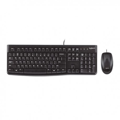 Logitech MK120 Desketop Wired Keyboard and Mouse