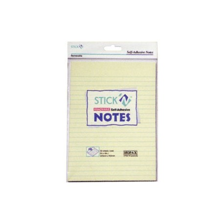 "Stick-N 21038 Note Lined 6""x8"" Yellow"